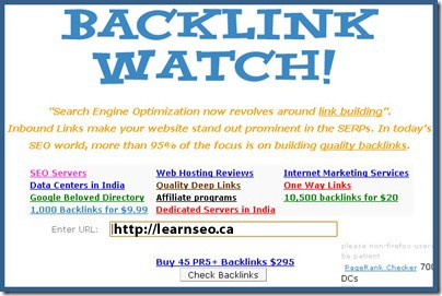 back link watch