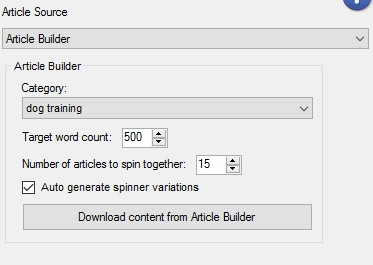 Senuke TNG Article Builder